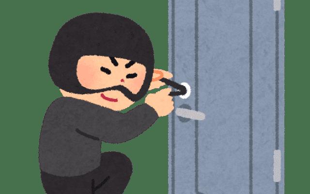 ピッキングする泥棒